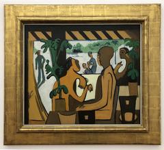 Brown Figures in a Café