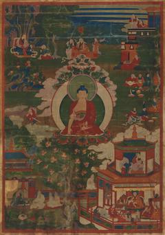 Buddha Shakyamuni and Narrative Scenes