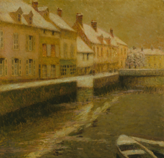 Canal in Bruges, winter