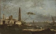 Capriccio with an Obelisk on a Lagoon
