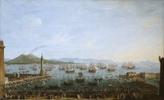 Carlos III leaving the Port of Naples, as Seen from the Land
