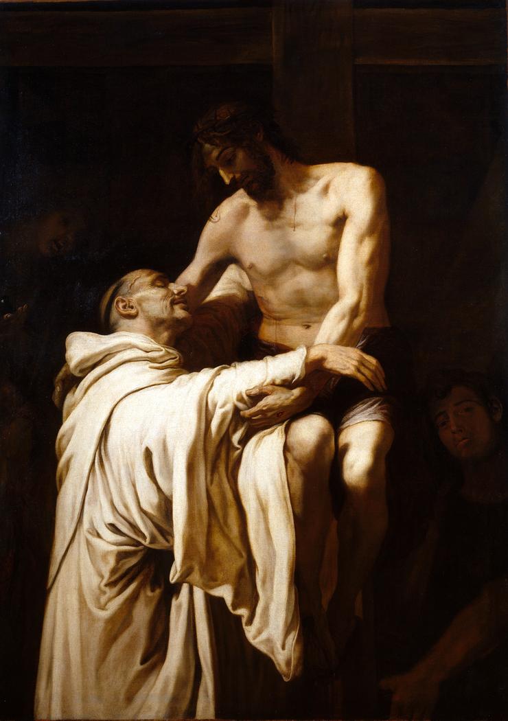 Christ embracing Saint Bernard