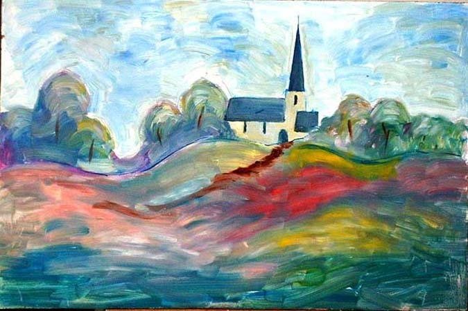 Church & trees