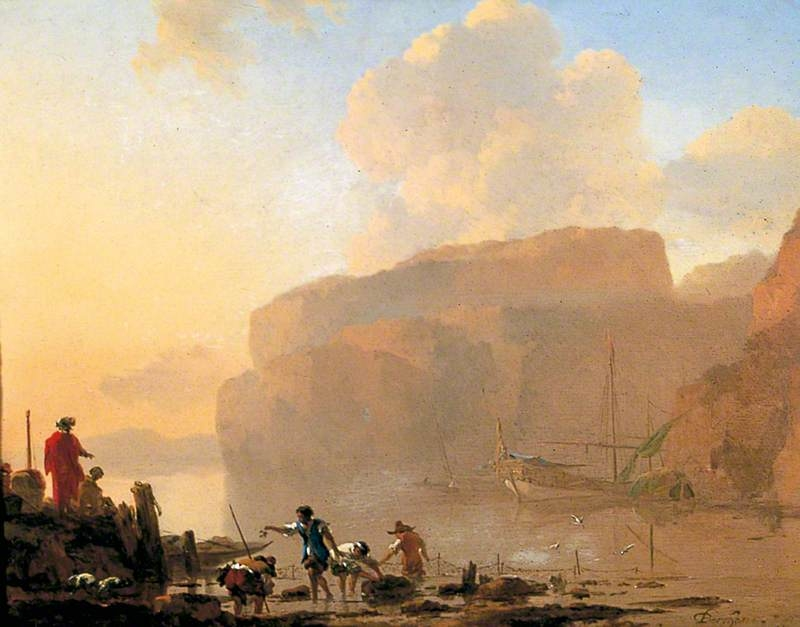 Coastal Scene with Crab-Catchers