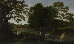 Courtly Procession before Abstpoel Castle