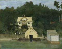 Das Wohnhaus des Künstlers in Ammerland