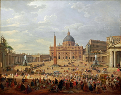 Departure of the Duc de Choiseul from the Piazza di San Pietro
