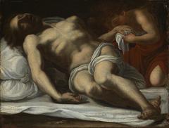 Der tote Christus, von einem Engel betrauert