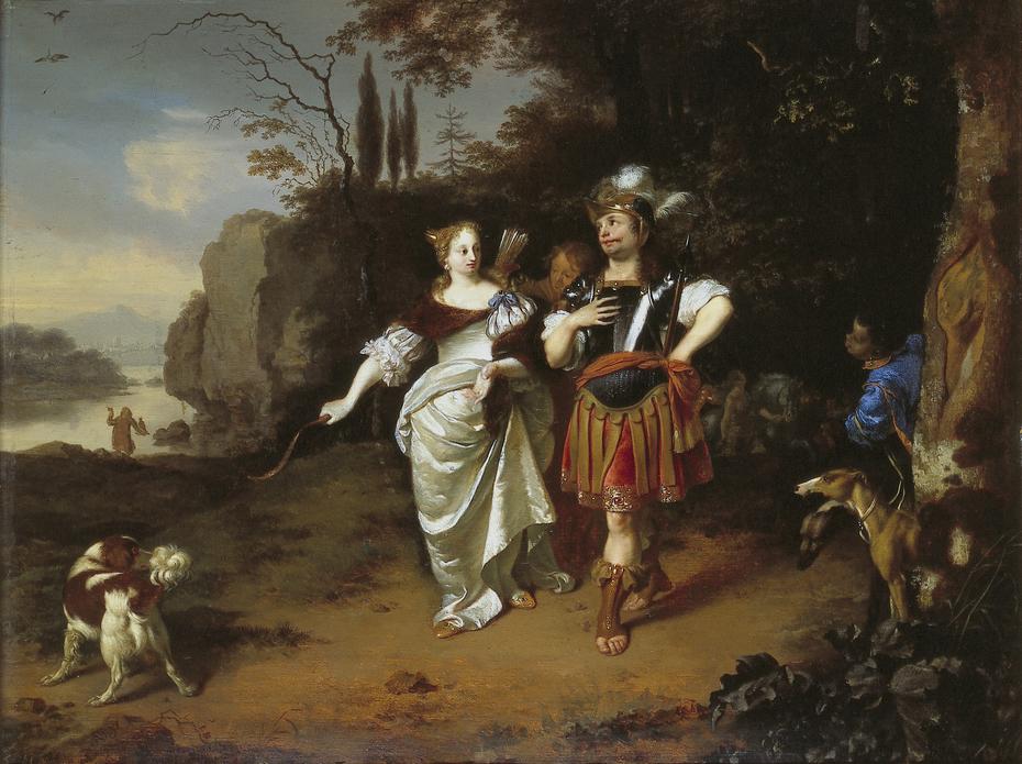 Dido en Aeneas op jacht