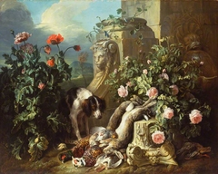 Dogs with Flowers and Dead Game