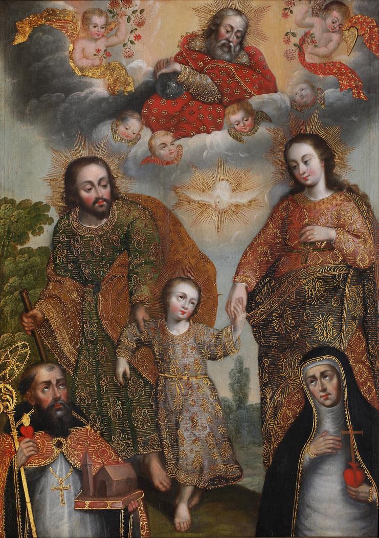 Double Trinity with Saint Augustine and Saint Catherine of Siena