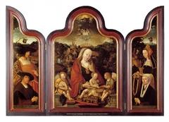 Drieluik met Pompeius Occo en zijn vrouw Gerbrich Claesdr.