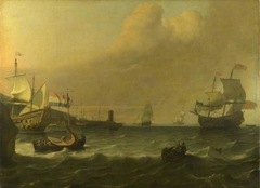 Dutch Men-of-war entering a Mediterranean Port