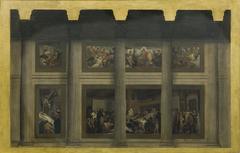Esquisse pour le Panthéon : La mort de sainte Geneviève