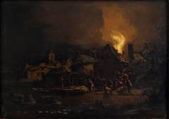 Fire in a Dutch Village