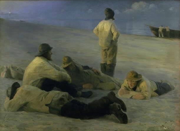 Fishermen at Skagen Beach