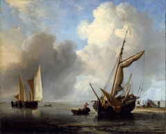 Fishing Boats in a Calm