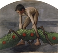 Garland Bearer ; Boy Carrying the Garland of Life