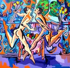 gay couple homosexaul painter raphael perez lgbt artist queer art paintings homoerotic artist