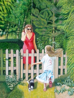 'Good day Mrs Orman', (2013), oil on linen, 71 x 107 cm