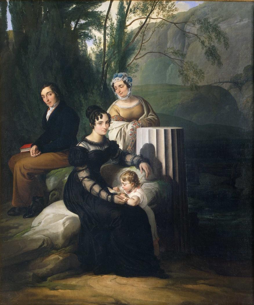 Group portrait of the Borri Stampa family