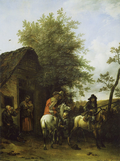 Hunters near an Inn