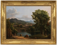 Ideal Landscape with a Sacrifice to the Goddess Flora
