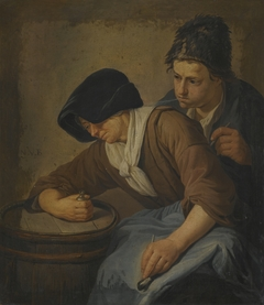 Interior with a Man and a Woman Smoking