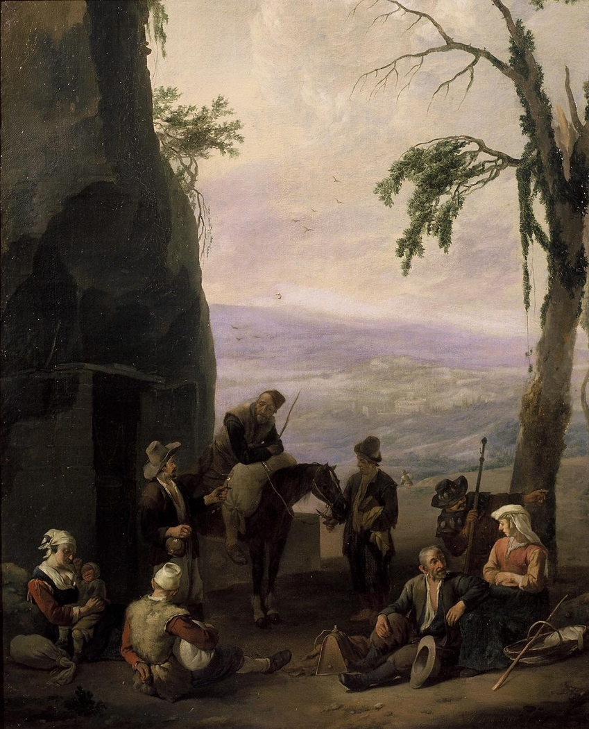 Italianate Landscape with Resting Peasants