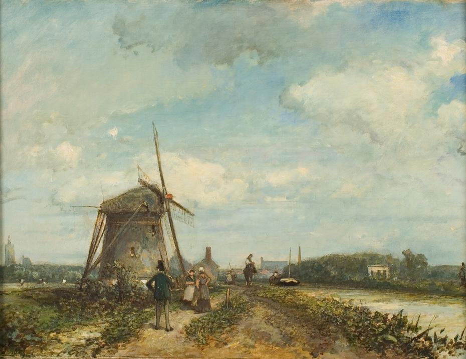 Jaagpad aan de Trekvliet bij Den Haag