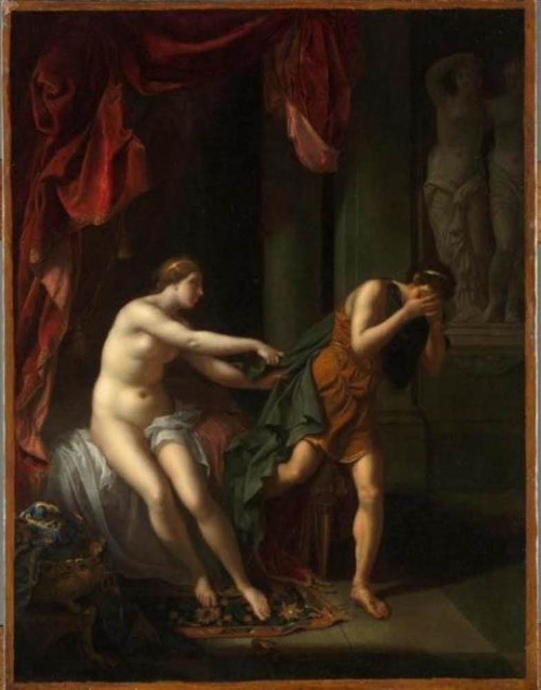 Joseph harassed by Potiphar's wife