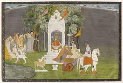 Krishna Abducting Rukmani from the Temple