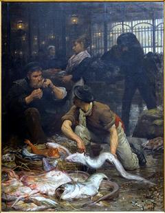 La halle aux poissons, le matin