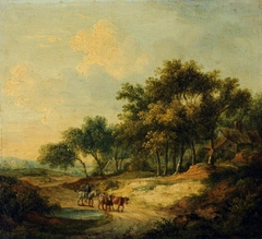 Landscape with Figure on Horseback and Cattle