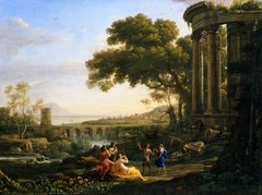 Landscape with Nymph and Satyr Dancing