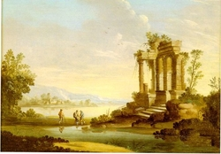 Landscape with Temple in Ruin