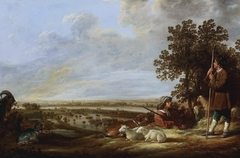Landscape with Two Herders and Cattle