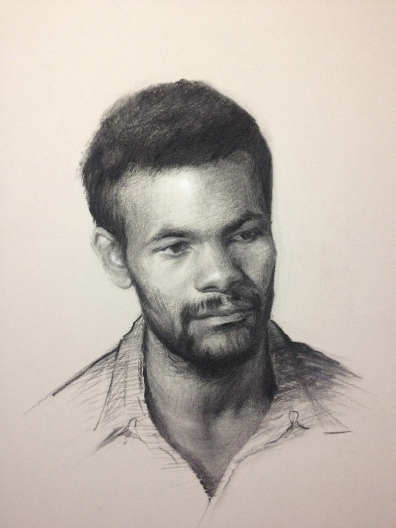 Life portrait drawing