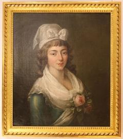 Madame Roland coiffée d'un bonnet girondin