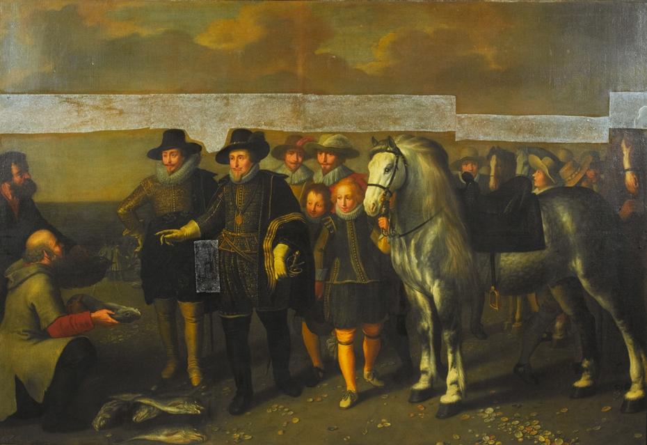 Maurits (1567-1625) and Frederik Hendrik (1584-1647), Princes of Orange, on the Beach at Scheveningen