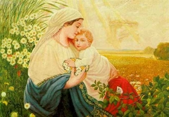 Mother Mary with the Holy Child Jesus Christ, Oil/canvas, 1913