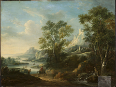 Mountain landscape with a river