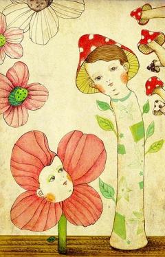 Mushrooms and flowers / 磨菇與花