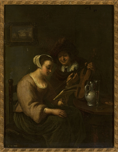 Musical duo with wine