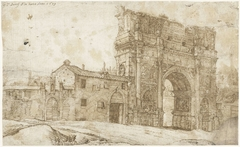 Noordkant van de boog van Constantijn, Rome