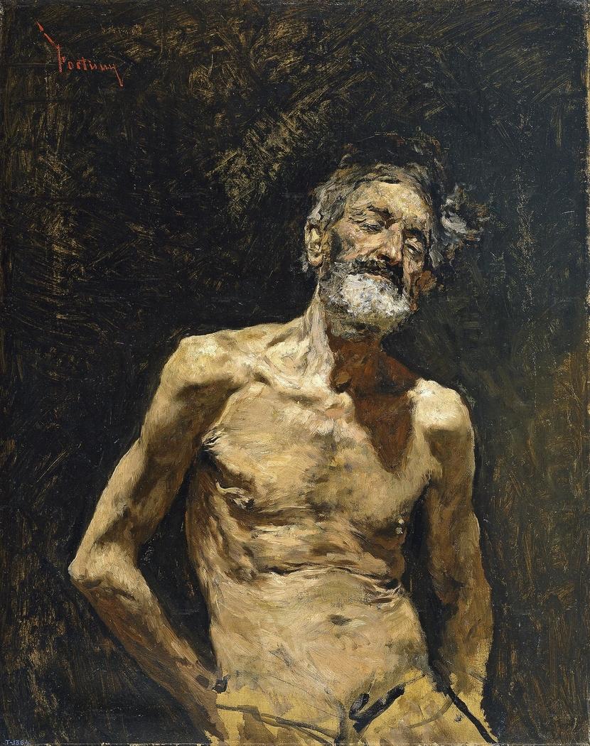 Nude Old Man in the Sun
