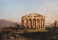 Paestum Temple in Morning Light