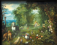 Paradise with the Creation of Eve