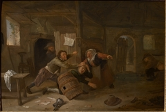 Peasants Fighting over Cards