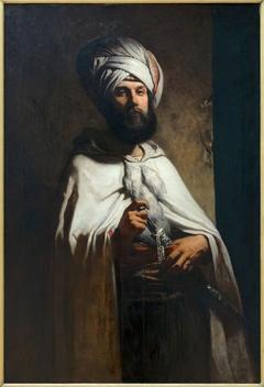 Portrait du peintre et graveur Charles Cousin en costume arabe